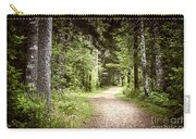 Path In Green Forest Carry-all Pouch by Elena Elisseeva