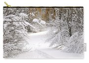 Path In Winter Forest Carry-all Pouch by Elena Elisseeva