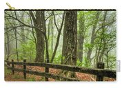 Path Into The Forest Carry-all Pouch by Debra and Dave Vanderlaan