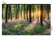 Sunrise Path Through Bluebell Woods Carry-all Pouch