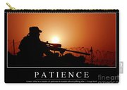Patience Inspirational Quote Carry-all Pouch by Stocktrek Images