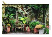 Patio Garden In The Rain Carry-all Pouch by Susan Savad