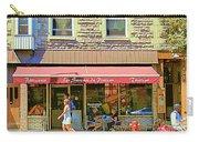 Patisserie Les Saveurs Du Plateau Pique Nique Et Emporter Montreal Cafe Scene Art By Carole Spandau  Carry-all Pouch