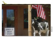 Patriotic Cow Cave Creek Arizona 2004 Carry-all Pouch