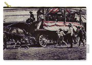 Patriotic Wagon Stone And Congress Tucson Arizona C.1900 Restored Color Texture Added 2008 Carry-all Pouch