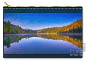 Patterson Lake Fall Morning Abstract Landscape Painting Carry-all Pouch