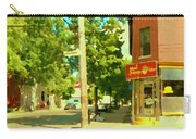Paul Patate Pte St Charles Fast Food Restaurant Rue Charlevoix Street Scene Carole Spandau Carry-all Pouch