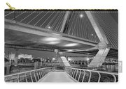 Paul Revere Park And The Zakim Bridge Bw Carry-all Pouch