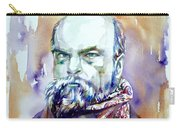 Paul Verlaine - Watercolor Portrait.1 Carry-all Pouch