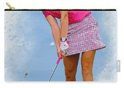 Paula Creamer In Actionon The Evian Masters Carry-all Pouch