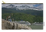 Pause In Wonder At Cruise Ships In Alaska Carry-all Pouch by John Haldane