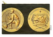 Pawnee Nation Tribe Code Talkers Bronze Medal Art Carry-all Pouch