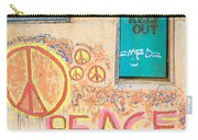 Hippie Graffiti - Peace But Keep Out Carry-all Pouch