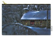 Peace On Earth Holiday Card Moonlight On Stone House.  Carry-all Pouch