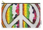 Peace Sign Fruits And Vegetables Carry-all Pouch