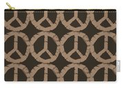 Peace Symbol Collage Carry-all Pouch by Michelle Calkins