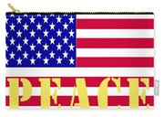 Peace The American Flag Carry-all Pouch