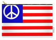 Peace Usa Flag Carry-all Pouch