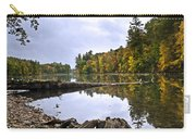 Peaceful Autumn Lake Carry-all Pouch by Christina Rollo