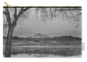 Peaceful Early Morning First Light Longs Peak View Bw Carry-all Pouch