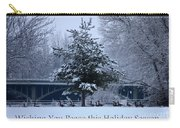 Peaceful Holiday Card - Winter Landscape Carry-all Pouch