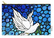 Peaceful Journey - White Dove Peace Art Carry-all Pouch by Sharon Cummings