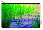 Peaceful Stream  Quebec Landscape Art Tall Grasses At The Lakeshore Waterscene Carole Spandau Carry-all Pouch