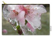 Peach Blossom In Ice Carry-all Pouch