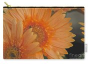 Peach Daisy Cluster Carry-all Pouch