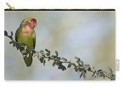 Peach Faced Love Bird Carry-all Pouch