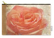 Peach Rose Happy Birthday Mom Card Carry-all Pouch