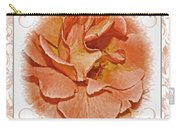 Peach Rose Sqrare Digital Paint Carry-all Pouch