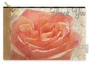 Peach Rose Thank You Card Carry-all Pouch