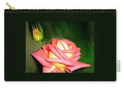 Peach Rose Watercolor Carry-all Pouch