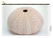 Peach Sea Urchin White Carry-all Pouch