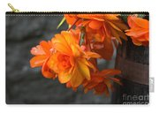Peachy Begonias Carry-all Pouch