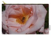 Peachy Petals And Bee Carry-all Pouch