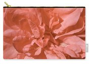 Peachy Pink Jasper Rose Carry-all Pouch