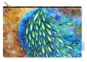 Peacock Abstract Bird Original Painting In Bloom By Madart Carry-all Pouch