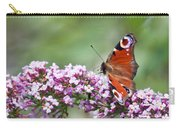 Peacock Butterfly  Inachis Io  On Buddleia Carry-all Pouch