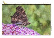 Peacock Butterfly Inachis Io On Buddleja Carry-all Pouch