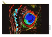 Peacock Feather Abstract Carry-all Pouch