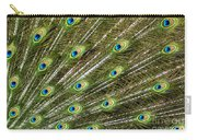 Peacock Feather Abstract Pattern Carry-all Pouch
