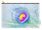 Peacock Feather Neon Carry-all Pouch