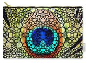 Peacock Feather - Stone Rock'd Art By Sharon Cummings Carry-all Pouch