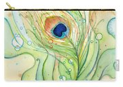 Peacock Feather Watercolor Carry-all Pouch