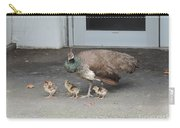 Peacock Mom And Kids 2 Carry-all Pouch