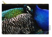 Peacock On Black Carry-all Pouch