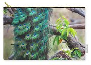 Peacock Perching On A Branch, Kanha Carry-all Pouch