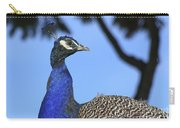 Indian Peacock Portrait Carry-all Pouch